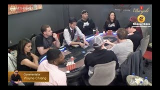 Wayne Chiang commentates $40/$80 Limit Holdem on Live at the Bike Feat. Natalia Cigliuti & Jean