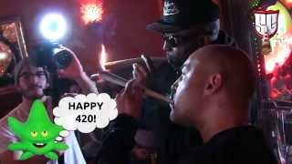 Amsterdam 420 Party with Lord Digga & UG Cella Dwellas at Coffeeshop 1e Hulp - Smokers Guide TV