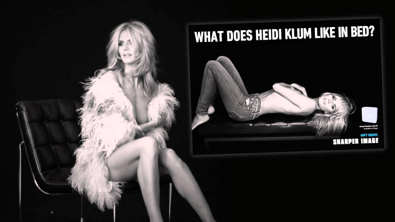 Heidi Klum for Sharper Image