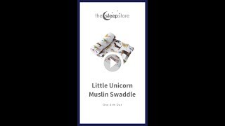 Little Unicorn Muslin Swaddle One Arm Out