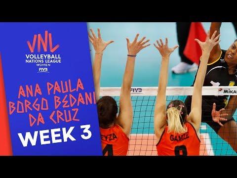 21 Points Against Germany: Ana Paula Borgo Bedani Da Cruz | Volleyball Nations League 2019
