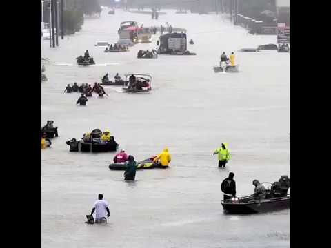 Huston Texas is underwater after hurricane