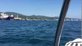 Вид с катера в Туапсе