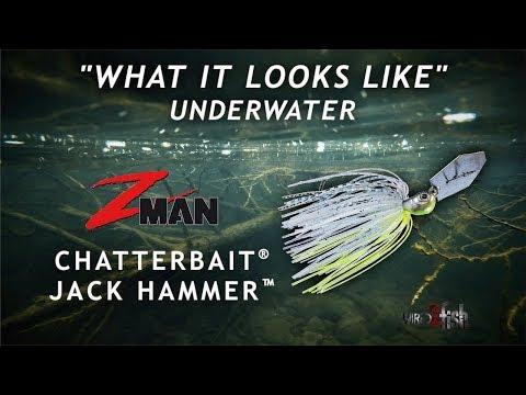 Z-Man / Evergreen Jack Hammer Chatterbait UNDERWATER