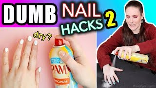 Testing Dumb Nail Hacks #2 (SimplyNailogical suffering) thumbnail