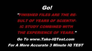 Free Online IQ Test - Only 10 Seconds Long! Are You Average?