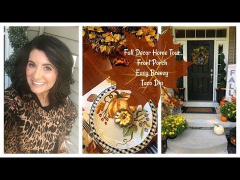 Lauren's Vlog: Fall Decor Home Tour, Front Porch & Easy Breezy Taco Dip