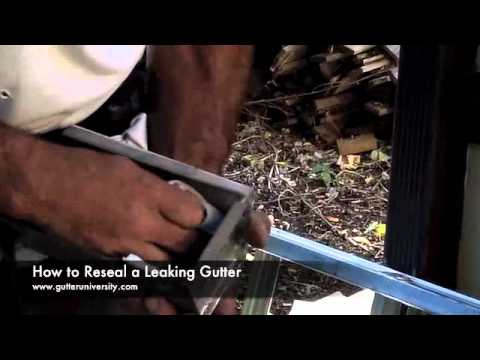 How To Reseal A Leaking Gutter Youtube