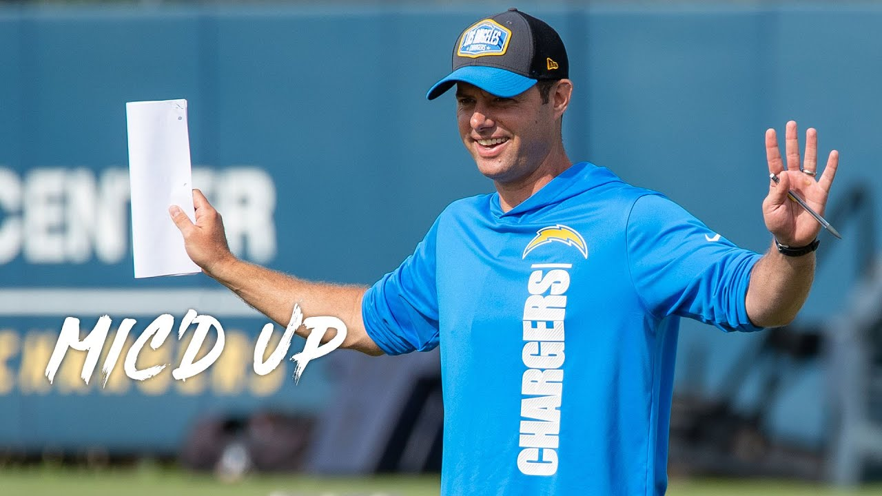 """Brandon Staley Mic'd Up at Chargers Minicamp 2021, """"Good job Herbie!"""""""