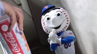 Mets mascot flips off fan