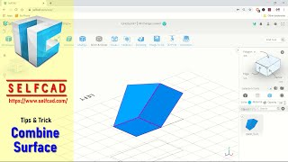 SelfCAD Tips And Trick Combine Surface With Edge Vertex