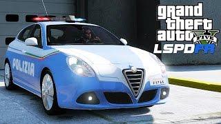 GTA 5 LSPDFR ITA - ALFA ROMEO GIULIETTA DELLA POLIZIA - GTA 5 MODS GAMEPLAY ITA