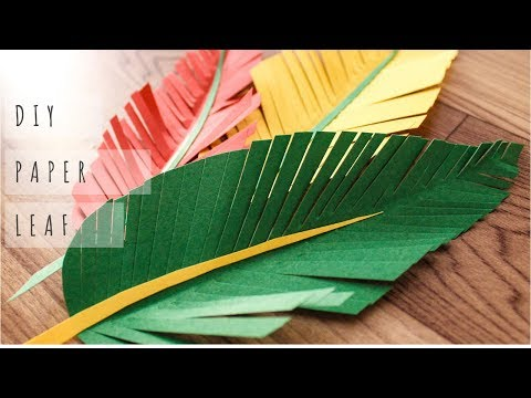 How to make Leaf out of Paper| DIY Paper leaf | Thanksgiving DIY | One Minute Craft