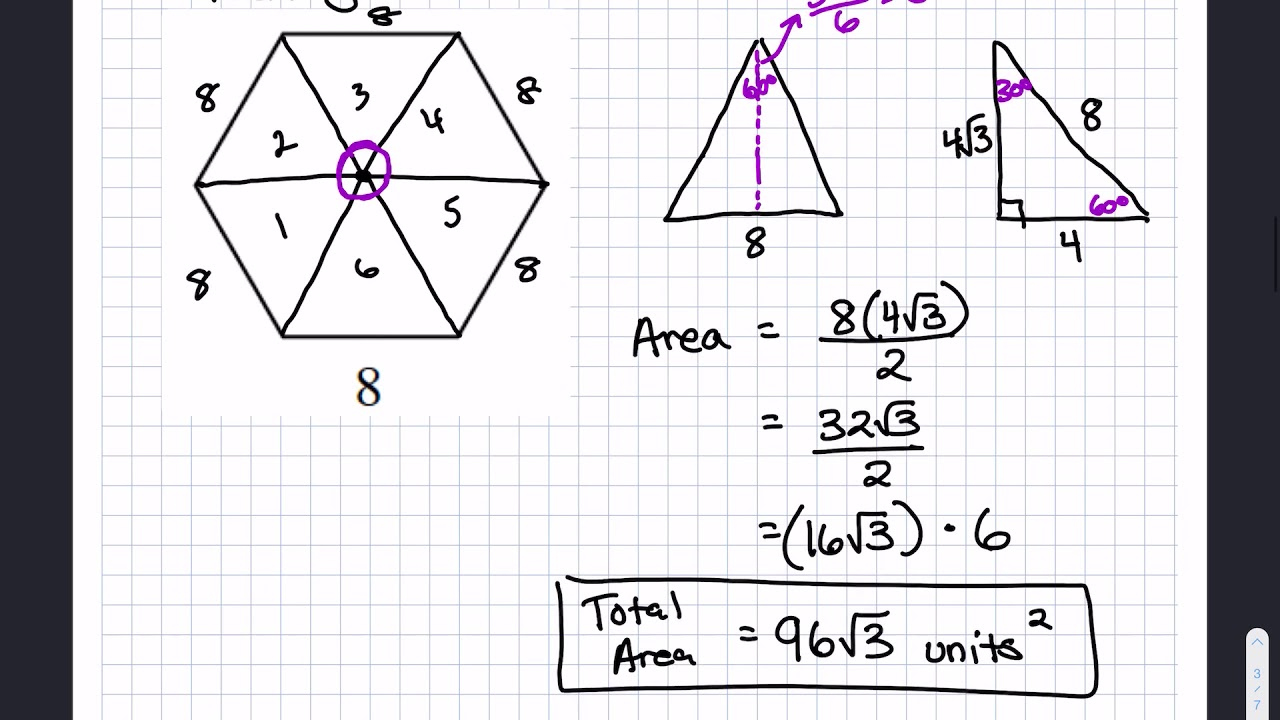 Area of Regular Polygons, Area of Sector & Arc Length