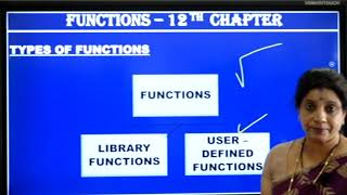 I PUC | Computer Science | Functions- 01