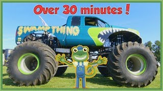 Gecko Meets a Monster Truck and More Vehicles For Children | Gecko's Real Vehicles