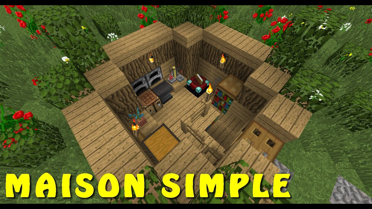 minecraft maison simple rapide facile survie xbox pe ps3 pc youtube. Black Bedroom Furniture Sets. Home Design Ideas