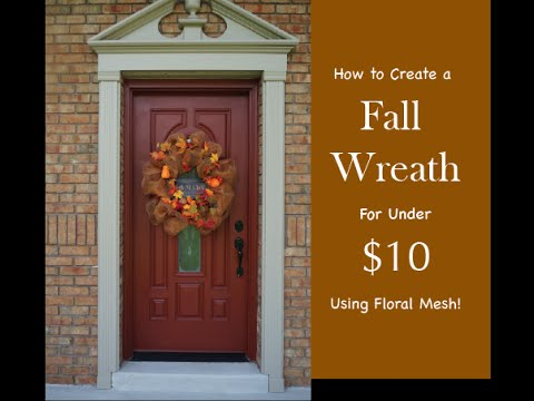 How To Make A Diy Fall Wreath For Under 10 Youtube