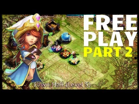 Castle Clash Free Play 02: Frost Witch + Rolling 150 Gems
