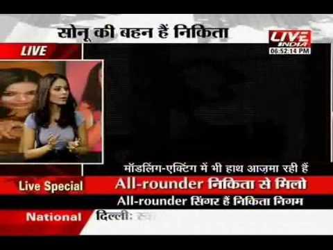 nikita nigam (sonu nigam's younger sister) wid dr. praveen tiwari on live india