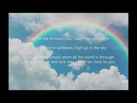 Look for me in Rainbows - Music and Lyrics Video