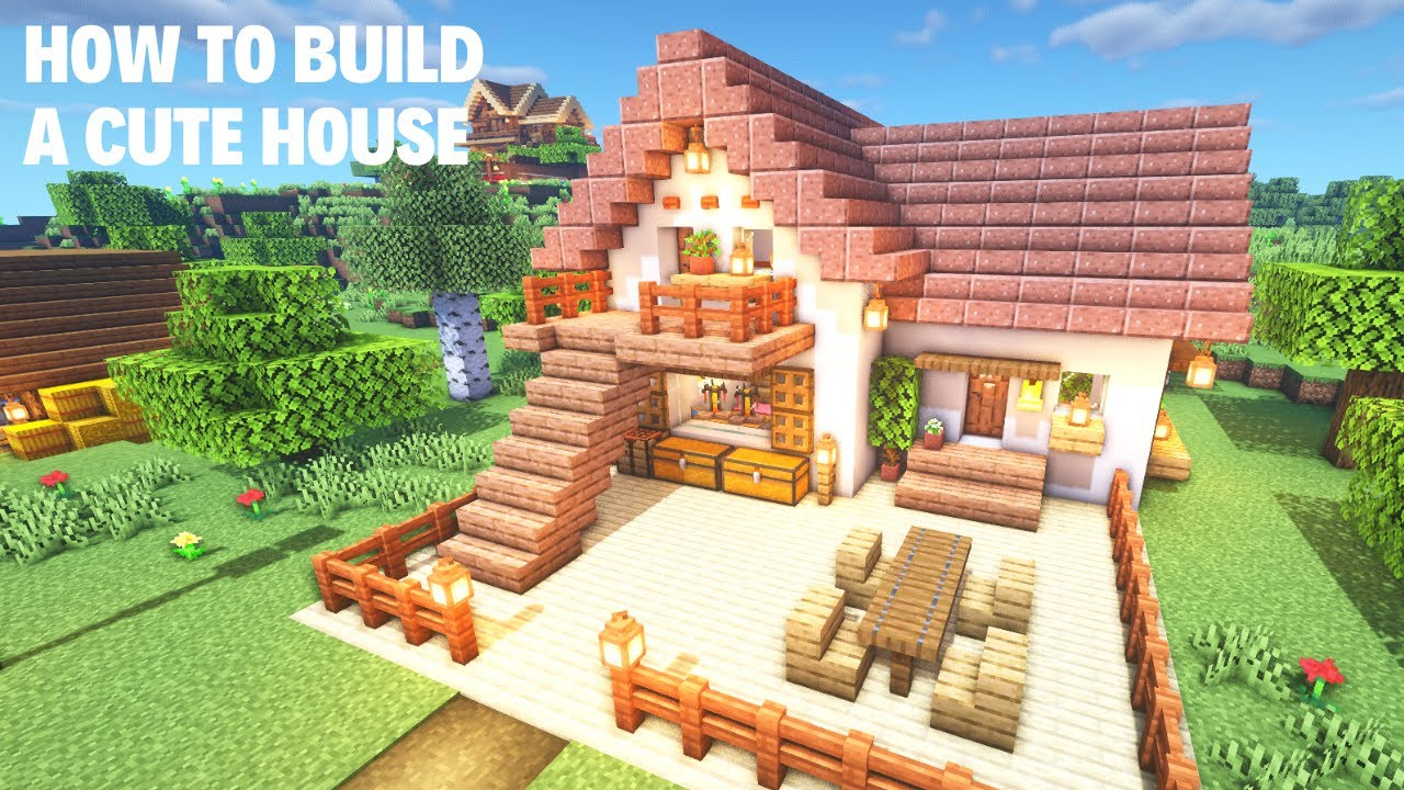 Minecraft How To Build A Cute House Youtube