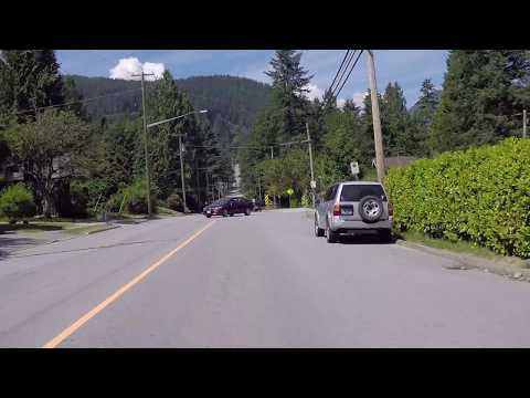 Driving Around LYNN Valley - North Vancouver BC Canada - Quiet Community/District