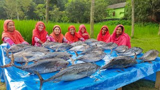 70 KG Tuna Fish Delicious Curry Cooking - Tasty Tuna For Full Village People - Food For Needier