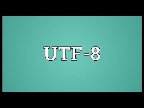 UTF-8 Meaning