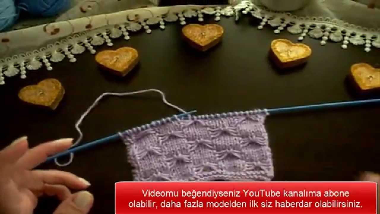 Kelebek Örgü Modeli Bebek Yeleği Yapılışı Türkçe Anlatımlı Videolu