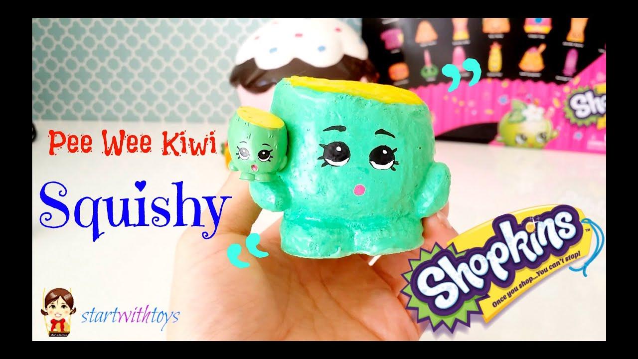 DIY Crafts Shopkins Pee Wee Kiwi Squishy - YouTube