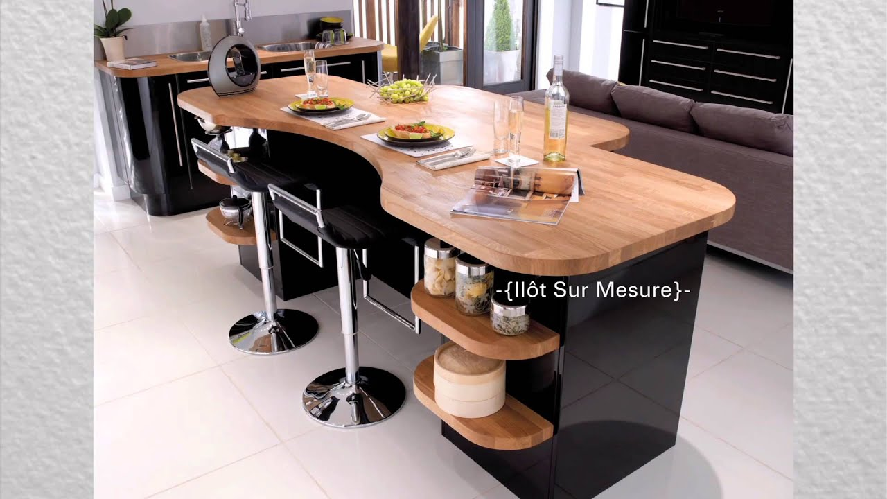 Athis cuisine design noir brillant youtube for Fabrication meuble cuisine