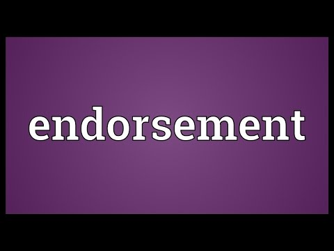 Endorsement Meaning