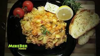#Лук-Порей_с_рисом #Греческая кухня