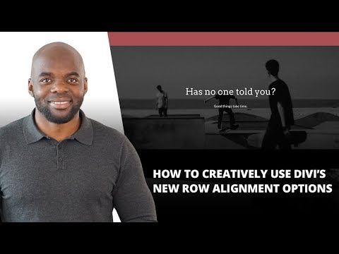 How to Creatively Use Divi's New Row Alignment Options