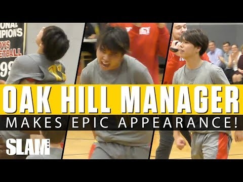 Oak Hill Manager Checks into Game?! 🤣 EPIC Appearance on Senior Night!