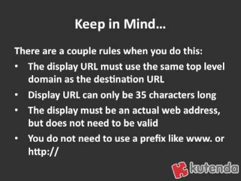 Use Your AdWords Display URL as Ad Space - Kutenda Tip