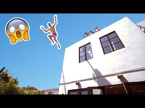 HE JUMPED OFF OUR ROOF **INSANE** 😅