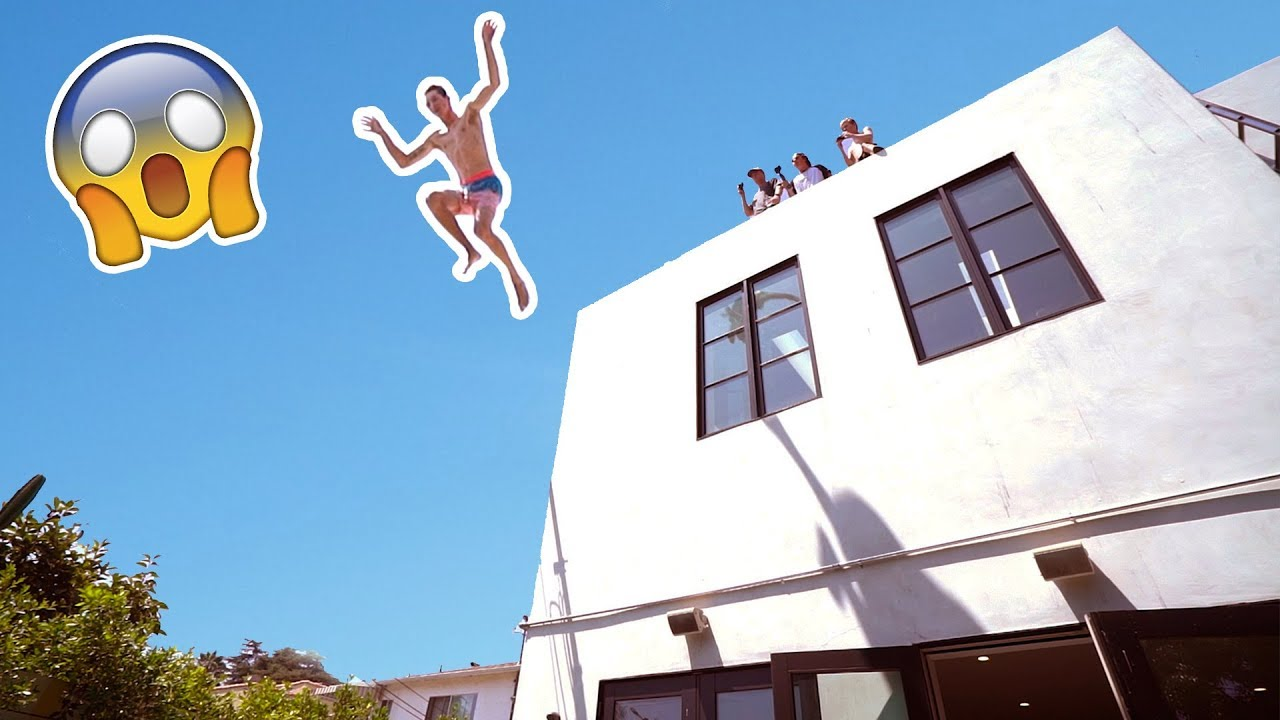 He Jumped Off Our Roof Insane 😅 Youtube