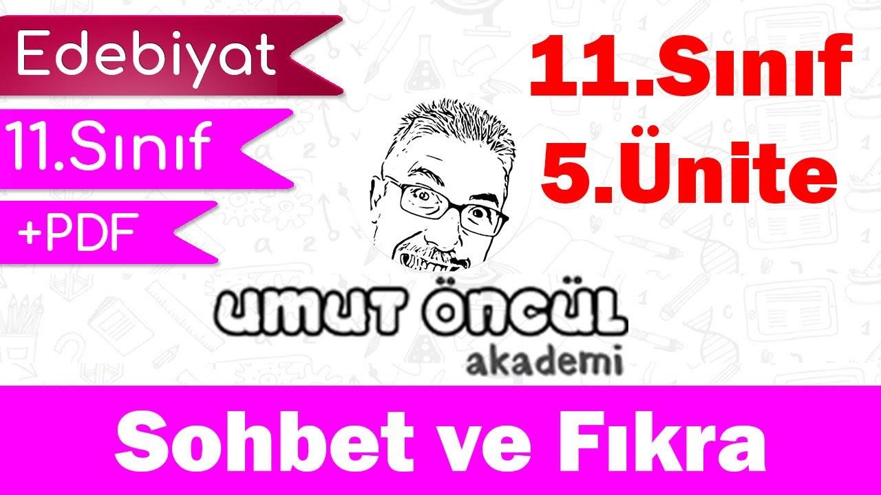 Türk Dili ve Edebiyatı   11.Sınıf   5.Ünite   Sohbet ve Fıkra   +PDF