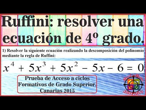 resolver-ecuación-de-grado-4-usando-ruffini.-prueba-acceso-grado-superior-canarias-2015.-ejercicio-1