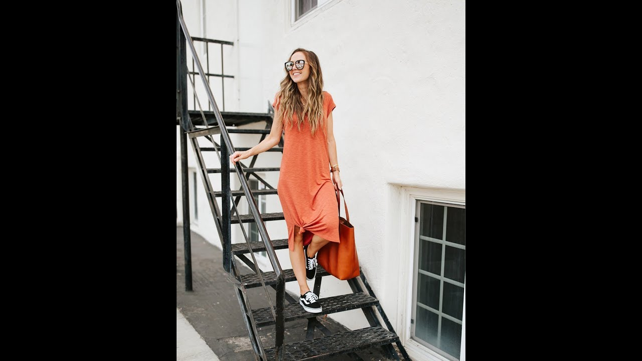 Casual T-Shirt Dress Outfits to Try for Spring Edit