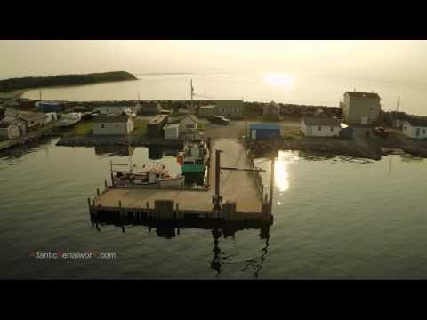 Aerial video of Fisherman's Reserve in Nova Scotia