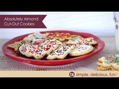Holiday Cookie Recipe Absolutely Almond Cut Out Cookies