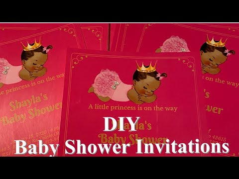 DIY Baby Shower Invitations/ Canva/ Silhouette