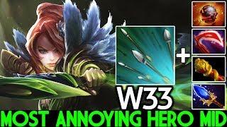 W33 [Windranger] Most Annoying Hero Mid Unreal Damage 7.23 Dota 2