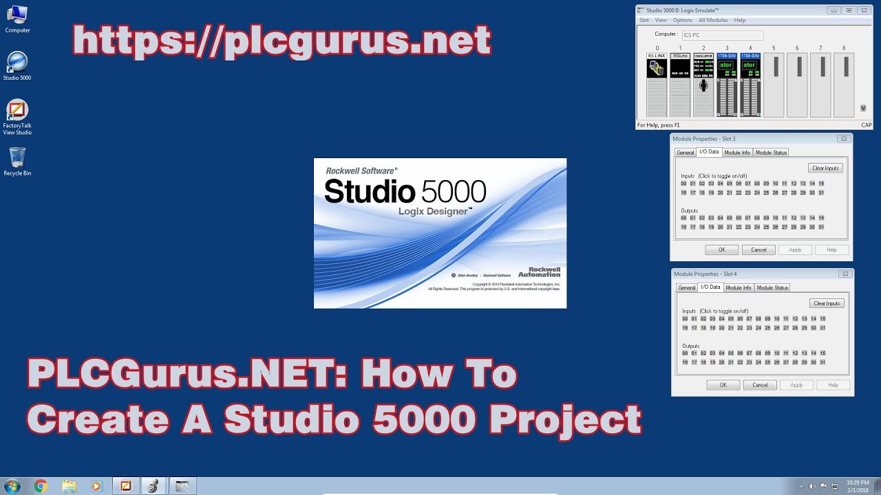 PLCGurus NET - How To Create A Studio 5000 Logix Emulate Project
