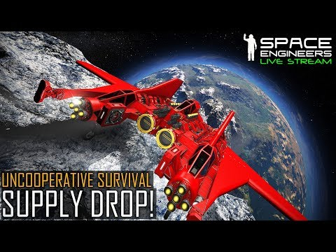 Space Engineers: SUPPLY DROP! - Uncooperative Survival (Planetary PvE & MOD Madness)