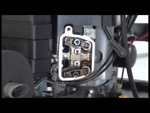 Setting the Valves and Checking Compression on a Kawasaki FH500V
