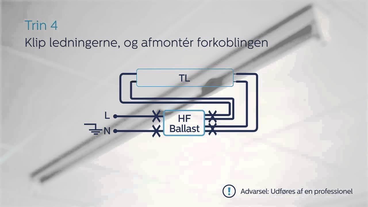 medium resolution of installationsvideo for philips master led lysr r baseret hf ballast wiring diagram